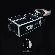 Portable DIY Cardboard Smartphone Projector DIY Mobile Phone