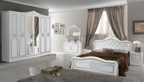 barock schlafzimmer weiss silber komplett mit polsterung