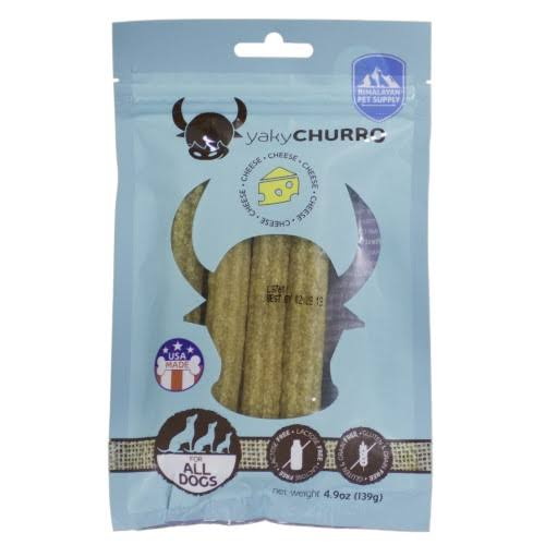 Himalayan Yaky Churro Dog Chew - Cheese, 4pcs