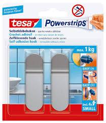 badezimmer zubehör silber matt small metall tesa powerstrips