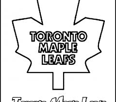 Toronto Maple Leafs Coloring Pages Leaf To Print Archives Free Printable