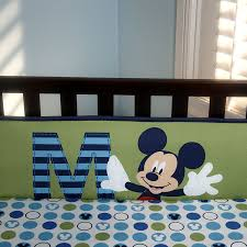mickey mouse m is for mickey 4 piece secure me bumper disney baby
