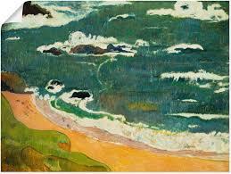 artland wandbild strand bei le pouldu 1889 strand 1 stück in vielen größen produktarten leinwandbild poster wandaufkleber wandtattoo