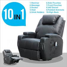 Reclining Camping Chairs Ebay by Amazon Com Msg Massage Recliner Leather Sofa Chair Ergonomic