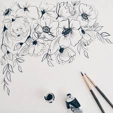 Pin Drawn Vintage Flower Tumblr Art 7
