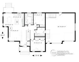 Big Kitchen House Plans Level Country Rustic 2 Car Garage Plan With Open Floor