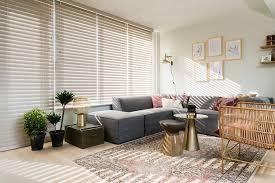 jasno blinds holzjalousien braun wohnzimmer holzjalousie