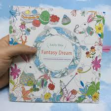 24 Pages Fantasy Dream Secret Garden Series Antistress Coloring Book For Children Adults Graffiti Painting Drawing