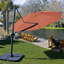 Sunbrella Patio Umbrellas Amazon by Amazon Com Coolaroo Cantilever Umbrella Round 12 U0027 Terracotta