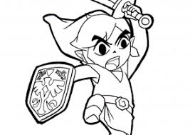 Zelda Coloring Pages Toon Link Printable Coloring4free