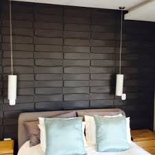 Black Decorative 3D Wall Panels To Rock In Your Neutral Bedroom