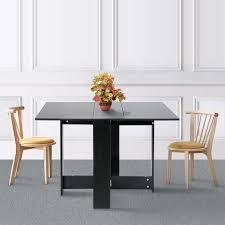 klapptisch klapptisch esstisch beistelltisch schreibtisch ablagefläche tisch 103x76x73 4cm schwarz