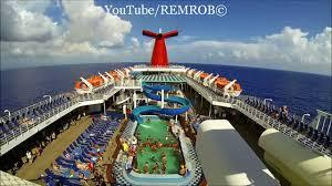 carnival cruise ship paradise in caribbean sea youtube