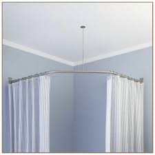 Menards Tension Curtain Rods by Neo Angle Double Solid Brass Shower Curtain Rod Bathroom Design
