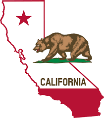 State Of California With Bear