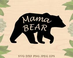Mama Bear SVG Svg Mother Mothers Day Mom Cut File Clip Art Files For Silhouette Studio Cricut Design Space