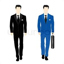 Silhouettes of the people in business suit Stock Vector