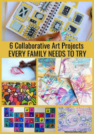 Want To Do Something Fun With Your Kids Heres Six Collaborative Art Projects For You