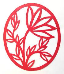 Flower Pendant Design Permalink Page Stencilletta Papercutting Blog