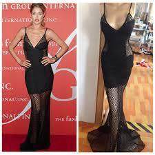 celebrity new black formal bandage mermaid elegant long party lace
