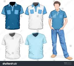 vector mens vneck tshirt poloshirts design stock vector 105933617