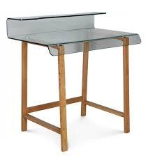 bureau en verre bureau verre et bois scandinave vintage