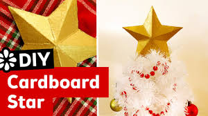 Christmas Tree Toppers Etsy by Diy 3d Cardboard Star Christmas Tree Topper Sea Lemon Youtube