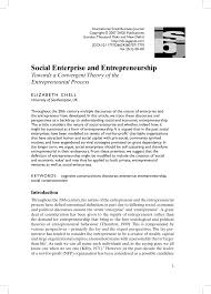 si e social entreprise the internationalization of social pdf available
