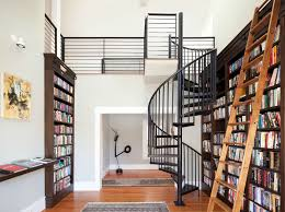 Gorgeous Libraries To Inspire Your Home Library | Wooden Ladder ... Awesome Ladder Ideas In Home Design Contemporary Interior Compact Staircase Designs Staircases For Tight Es Of Stairs Inside House Best Small On Simple Fniture Using Straight Wooden And Neat Pating Fold Down Attic Halfway Open Comfy Space Library Bookshelf Images Amazing Step Shelves Curihouseorg Spectacular White Metal Spiral With Foot Modern Pictures Solutions