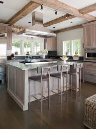 Staining Kitchen Cabinets Beach Style With Grey Contemporary Island Range Hoods