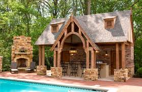 Interior Design Rustic Home Ideas With Small Swimming Pool Also Brick Wall Decoration