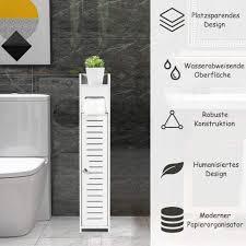 möbel standschrank 15 x 17 x 80 cm weiß badezimmerschrank