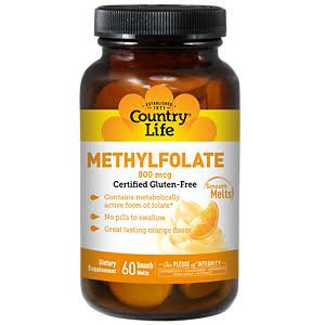 Country Life Methyl Folate 800mcg Lozenges - x60
