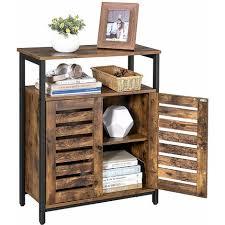 vasagle kommode schrank sideboard küchenschrank mit regalablage und lamellentüren multifunktional wohnzimmer schlafzimmer flur