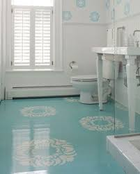 Laying Tile Over Linoleum Concrete by Instead Of Tile Or Linoleum Paint Floors With A High Gloss 27