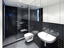 Simple Bathroom Designs In Sri Lanka by Black White Bathroom Floor Tile Simple Glass Shower Door Ideas