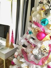Ceramic Christmas Tree Bulbs At Michaels by Decorating A Teen Room For Christmas Black White Gold And Pink