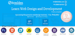 HTMLDen School of web design & development Bangalore