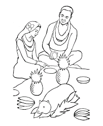 Printable Luau Coloring Pages