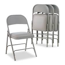 Steel Folding Chair With Two-Brace Support, Padded Seat, Light Gray ... 2418usb A Shape Heavyduty Padded Folding Chair 2019 4 Fabric Black Soft Seat Compact Steel Amazoncom Flash Fniture Hercules Series White Wood Sudden Comfort Deluxe Buff Frame Vinyl Chairs Km Party Rental And Decor 4pack Triple Brace 300 Lb Capacity 3450fsnf Moreton Hire Samsonite 3000 Fan Back With Bonded