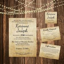 Burlap Wedding Invitation Shabby Chic