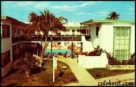 Vintage Postcard Park Terrace Apartments Miami Beach