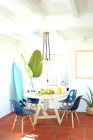 Dining Room Nook Ideas Beach Style Breakfast Idea White Round Shaped Table Styled Chairs