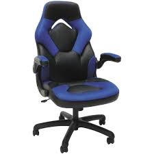 blue high back gaming chair 3085 blue ofm furniture afw