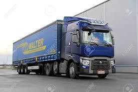 100 Volvo Truck Center LIETO FINLAND NOVEMBER 14 2015 Dark Blue Renault S