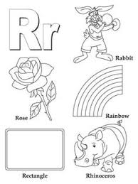 My A To Z Coloring Book Letter R Page