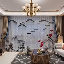 weiß wand 3d chiffon vorhang set panel sheer tüll vorhänge für wohnzimmer tür schlafzimmer natürlichen chinesischen stil