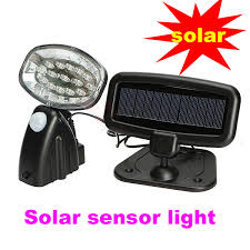 15led solar powered pir utility light for security outdoor