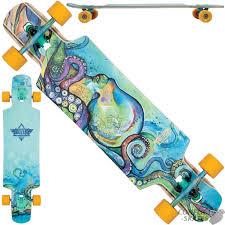 100 Drop Through Longboard Trucks DUSTERS Kraken Complete Skateboard 385