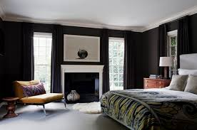 the flat black walls offer maximum visual impact against the